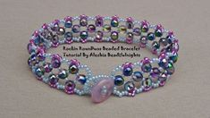 Hi I'm Aleshia, designing beaded jewelry and other beaded accessories is my passion. Beaded Bracelets Tutorial, Bead Loom Bracelets, Beaded Bracelet Patterns, Jewelry Patterns, Beading Patterns, Beaded Earrings, Handmade Beaded Jewelry, Beading Tutorials, Molde