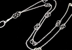 ID Badge Lanyard with Handcrafted Celtic Knots by byBrendaElaine