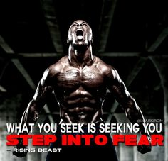 Stepping into fear is hard, its like testing how cold the water is. Most get out and find their comfort zone. I say fuck that! Jump in and endure, you will adjust, you will adapt… you will conquer if you endure pain #risingbeast #beastmode