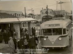First day of trolley bus service in Milwaukee. N.60th & W. North Avenue. Twin Coach #58-Nov 8,1936.