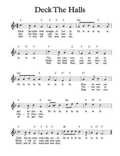 Free Sheet Music - Free Lead Sheet - Deck the Halls
