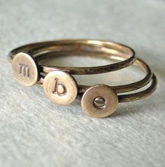 stacking rings by j'adore_vintage