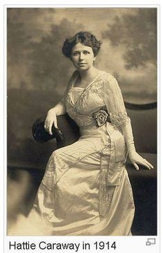 Pictured here is Hattie Caraway. Caraway was born in Bakerville, TN, which is in Humphreys County, and was a graduate of Dickson Normal College in 1896, as was her husband Thaddeus Caraway. Both went on to be U.S. Senators. Hattie Caraway was the first woman to be elected to a full term as a U.S. Senator.