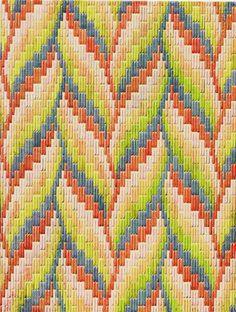 bargello needlepoint project! Pattern via ermie
