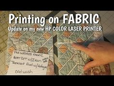 Hello everyone! Recently I purchased a new HP Color Laser Printer and have been experimenting with printing on fabric. I thought I would share my experimenti. Crafty Projects, Projects To Try, Laser Printer, Hello Everyone, Fiber Art, Fabric Crafts, Printing On Fabric, Mixed Media, Lisa