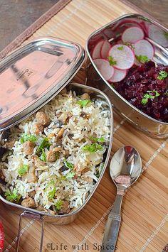 Chettinad style Mushroom rice