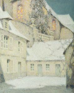 Henri Le Sidaner. House near the Church, Winter, 1934