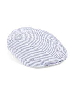 Pure 100/%  Linen Flat Cap /'Snoop/' Striped Summer Cap Fully Lined