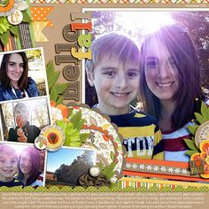 Hello fall - Scrapbook.com | credits:  Autumn is Calling by Heather Roselli  and  Half Pack 60: Photo Focus 22 by Cindy Schneider