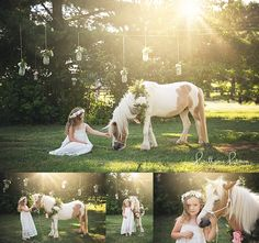 Unicorn Mini Sessions located in Georgetown, KY | Safe Haven Equine Ministries' mini pony became a unicorn for our mini sessions
