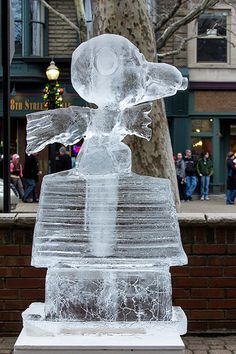Snoopy Ice Sculpture - What else do I need to say?!?!?!
