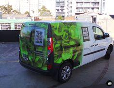 The Fresh Flower Man, Renault Kangoo, Van Wrap, Vehicle Graphics, Florist, Delivery Van