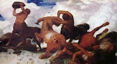 Lucha de centauros, Arnold Böcklin.