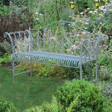Garden 2 Seater Steel Garden Bench