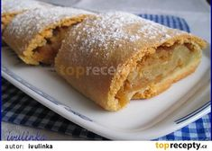 Snadný štrúdl recept - TopRecepty.cz Deserts, Treats, Ethnic Recipes, Sweet, Food, Campaign, Content, Medium, Essen
