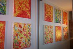 Jasmina Vladimirova, Fleurs d'eau, Fleurs de feu, Huile sur toile, Deux Triptiques 3x40x50 cm, Collection privée
