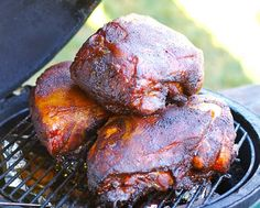 Smoked Boston Butt - I always use my gas grill! and soaked hickory chips! YUM