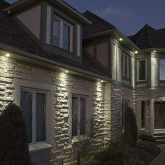 soffit lights exterior | Down lights can be mounted in the soffit ...