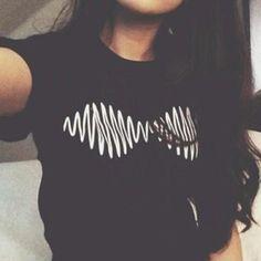 Tous les Monstres Sont Humains Homie Amant Ami Arctic Monkeys Emoji Nirvana Étoiles Laboratoire Kawaii Femmes T shirt Rock Style D'été 2015 dans T-shirts de Accessoires et vêtements pour femmes sur AliExpress.com | Alibaba Group