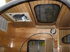 Camp-Inn Teardrop 560 Ultra- sunroof option. Love this idea for at night so I can star gaze from my bed.