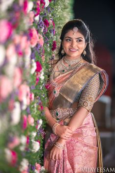 latest 40 classic bridal pattu sarees for your wedding day Wedding Saree Blouse Designs, Pattu Saree Blouse Designs, Half Saree Designs, Wedding Silk Saree, Fancy Blouse Designs, Designer Sarees Wedding, Bridal Sarees South Indian, Indian Bridal Outfits, Indian Bridal Fashion