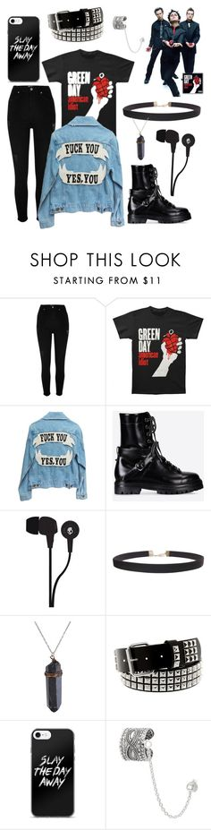 """""""green day"""" by asilileas ❤ liked on Polyvore featuring River Island, Valentino, Skullcandy, Humble Chic and Journee Collection"""