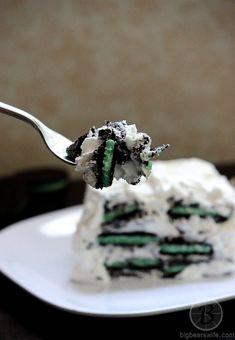 White Chocolate Oreo Mint Icebox Cake From BigBearsWife.com