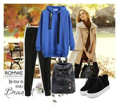 """""""ROMWE 1"""" by aida-1999 ❤ liked on Polyvore featuring WALL and Ann Taylor"""