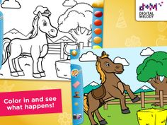 Joypa Colors - Interactive Coloring Game for kids - App Store (IOS), Google Play (Android) #kids #games #IOS #appskids #android #colors #coloring #interactive #fun #gameplay #android