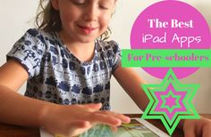 A selection of educational yet fun iPad apps for pre-schoolers. Includes counting, writing, reading, coloring and just good old plain fun apps.