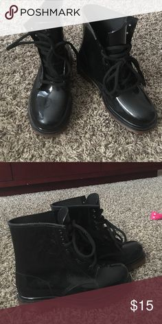 Black Jelly Boots Jelly Boots $15 Shoes Ankle Boots & Booties