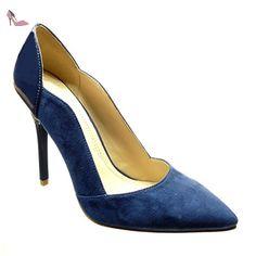 f210773866316 Angkorly Chaussure Mode Escarpin Stiletto Femme Verni Talon Haut Aiguille  11 CM  Amazon.fr  Chaussures et Sacs