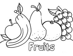 preschool printables, learn fruits and colors