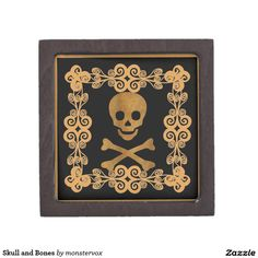 Skull and Bones Gift Box #Skull #Skeleton #Holiday #Halloween #Keepsake #Trinket #Jewelry #Gift #Box