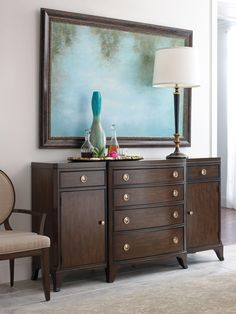 Grantham Hall Buffet in Brown Cherry | American Drew | Home Gallery Stores