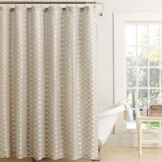 Titan Woven Fabric Shower Curtain