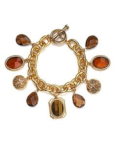 Carolee Neutral Ground Charm Bracelet