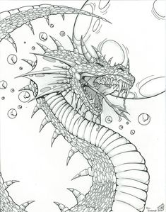 Dragon Design for Fantasy Art by ICGREEN.deviantart.com on @deviantART