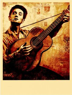 Woody Guthrie. American musician and folk singer.