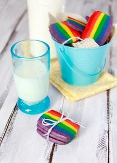 Rainbow Slice and Bake Cookies · Edible Crafts | CraftGossip.com