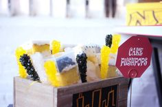Pin for Later: This Kid's Party Will Put You in a New York State of Mind Push It Rock candy added a little sparkle to the push-pop cake display.  Source: Digna Toledo Photography via Two Bright Lights