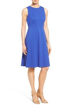 Classiques Entier® Sleeveless Interlock Fit & Flare Dress (Regular & Petite) available at #Nordstrom