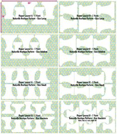 Babyville Boutique™ Diaper Pattern Layouts | Babyville Boutique™ Blog