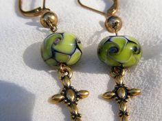 Artisan Hand-Blown Glass Bead Earrings $14.00