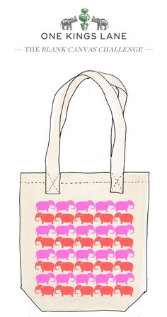 Winslett Watson created this tote bag design for our Blank Canvas Challenge. Cast your vote for her design by pinning it!