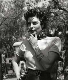 "Ava Gardner in a publicity shot for ""The Barefoot Contessa"" (1954)"