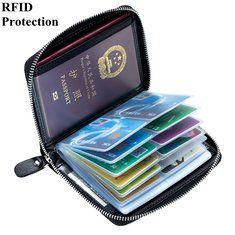 Hot-sale RFID Antimagnetic Genuine Leather Cowhide 13 card slots Tassel Card Holder For Women Men - NewChic Mobile