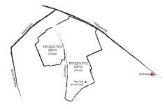 חקוק באבן Highgate Cemetary Map, London
