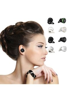 Single Side Mini Wireless Bluetooth Stereo Headphones Earbuds Headset - OASAP.com