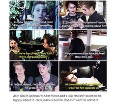 Just Good Friends, Best Friends, 5 Seconds Of Summer Imagines, 5sos Michael, Pop Punk Bands, 5sos Memes, Im Jealous, My True Love, 1d And 5sos